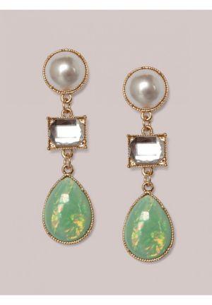 Tori Earrings in Mint