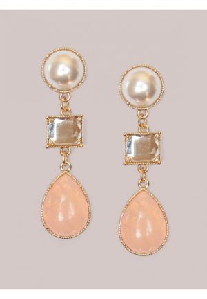 Tori Earrings in Pink