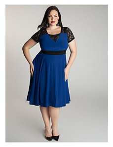 Chantelle Dress in Moroccan Blue by IGIGI