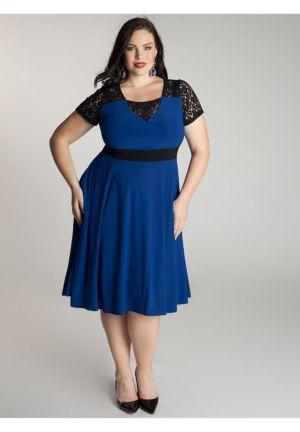 Chantelle Dress in Moroccan Blue