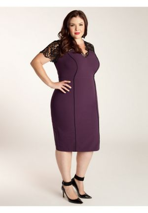 Denise Dress in Plum