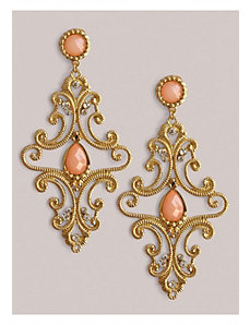 Kristen Earrings in Peach by IGIGI