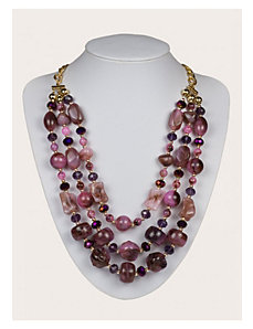 Gillian Necklace in Plum by IGIGI