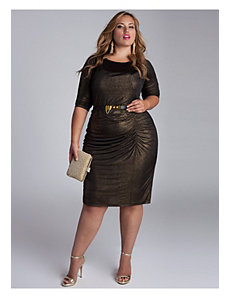 Nezetta Cocktail Dress in Black/Gold by IGIGI