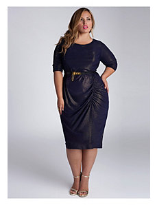 Nezetta Cocktail Dress in Navy/Gold by IGIGI