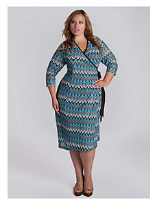 Margherita Wrap Dress in Turquoise by IGIGI