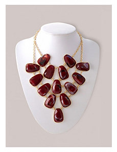 Noreen Necklace in Maroon by IGIGI