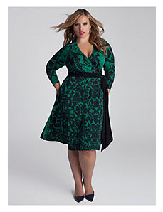 Neve Wrap Dress in Jade by IGIGI