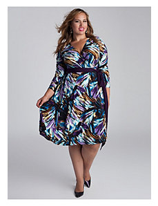 Neve Wrap Dress in Multi by IGIGI