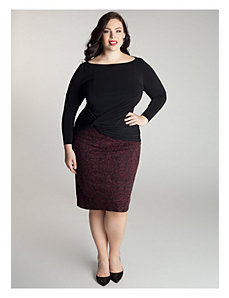 Belmont Skirt in Cabernet by IGIGI