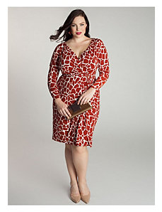 Garnet Dress in Giraffe Print by IGIGI