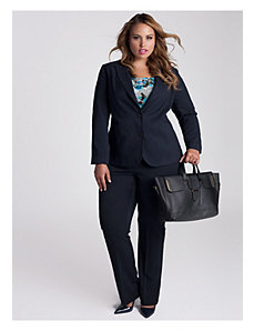 Mena Jacket in Navy Newbury Plaid by IGIGI