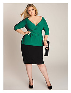 Arabelle Top in Emerald by IGIGI