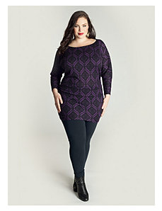 Toccara Sweater Tunic in Purple by IGIGI