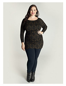 Toccara Sweater Tunic in Hunter by IGIGI