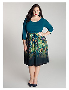 Lynette Sweater Dress in Teal by IGIGI