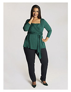 Luella Infinity Tunic in Garden Green by IGIGI