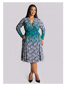 Cadence Dress in Teal by IGIGI