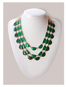 Candace Necklace in Pine by IGIGI