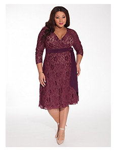 Fayette Dress in Merlot by IGIGI