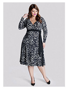 Neve Wrap Dress in Abtruse Dot by IGIGI