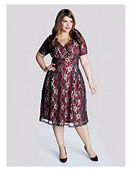 Marisol Lace Dress in Pomegranate