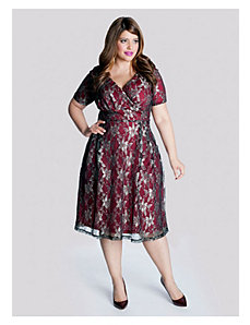 Marisol Lace Dress in Pomegranate by IGIGI