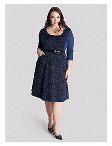 Savannah Dress in Indigo Jaquard by IGIGI