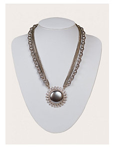 Genevieve Necklace in Pewter by IGIGI