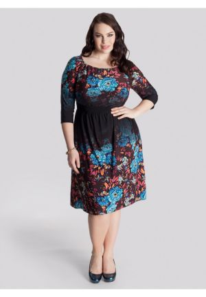Chelsea Dress in Ombre Floral