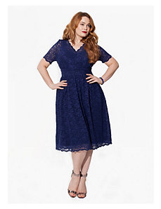 Nencia Cocktail Dress in Navy by IGIGI