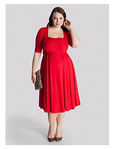 Tiffany Dress in Mandarin Red by IGIGI