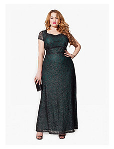 Thalia Gown in Jade Noir by IGIGI