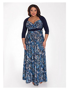 Katsia Maxi Dress with Shrug by IGIGI