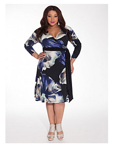 Neve Wrap Dress in Blue Floral by IGIGI