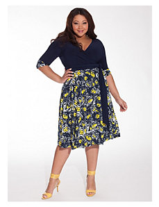 Bellissima Dress in Navy/Daffodil by IGIGI