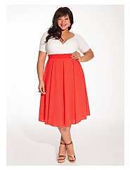 Cassidy Dress in Vermillion Polka Dot