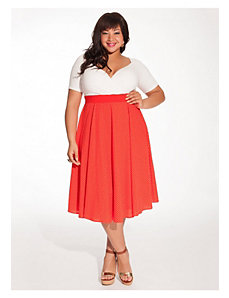 Cassidy Dress in Vermillion Polka Dot by IGIGI