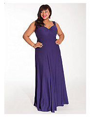 Avril Maxi Dress in Violet with Shrug