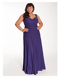 Avril Maxi Dress in Violet with Shrug by IGIGI