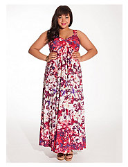 Avril Maxi Dress in Floral with Shrug