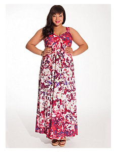 Avril Maxi Dress in Floral with Shrug by IGIGI
