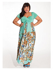 Christina Maxi Dress in Mint Floral