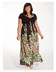 Christina Maxi Dress in Black Floral