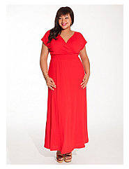 Linea Maxi Dress in Vermillion