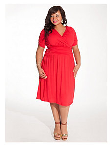Daniela Dress in Vermillion by IGIGI
