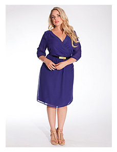 Cecilia Dress in Violet by IGIGI