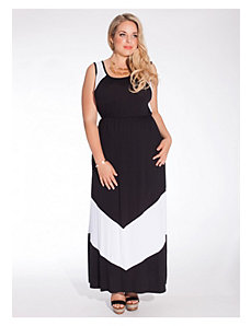 Gia Maxi Dress in Black/White by IGIGI