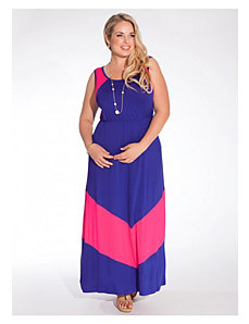 Gia Maxi Dress in Royal/Fuchsia by IGIGI