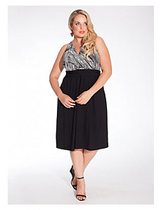 Heidi Halter Dress in Black/White by IGIGI